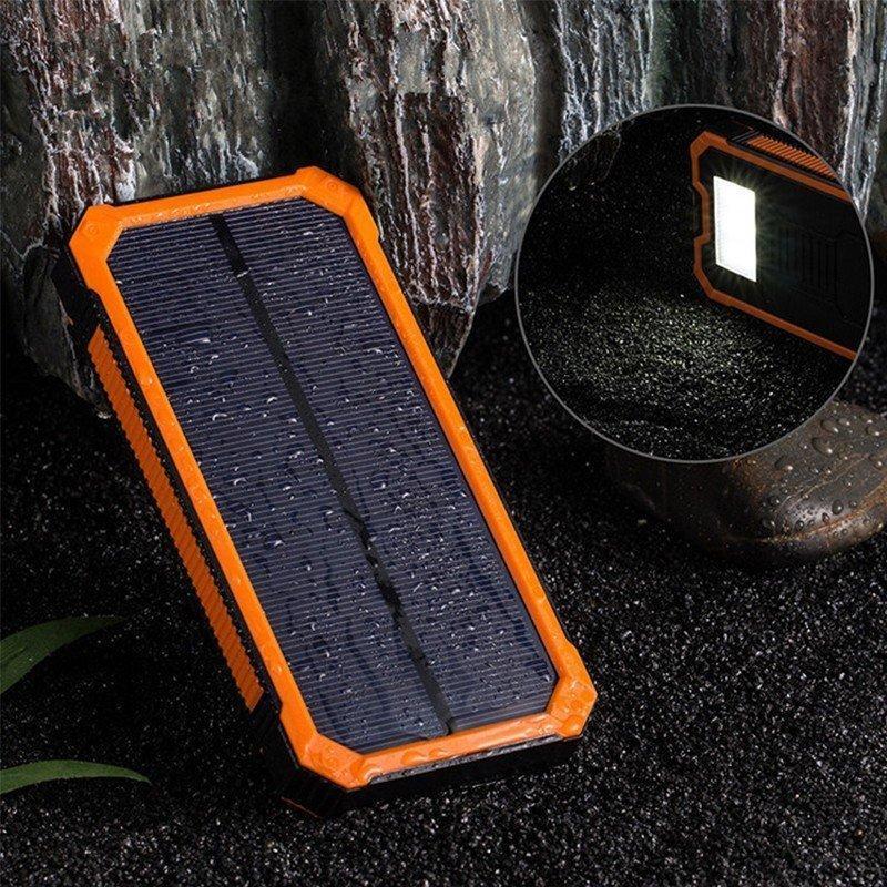 モバイルバッテリー  ソーラー モバイルバッテリー 15000mAh  大容量 ソーラーチャージャー 充電器 2USB出力ポート 災害 旅行 iPhone/Android(CDB-TYN)|lzgp|09