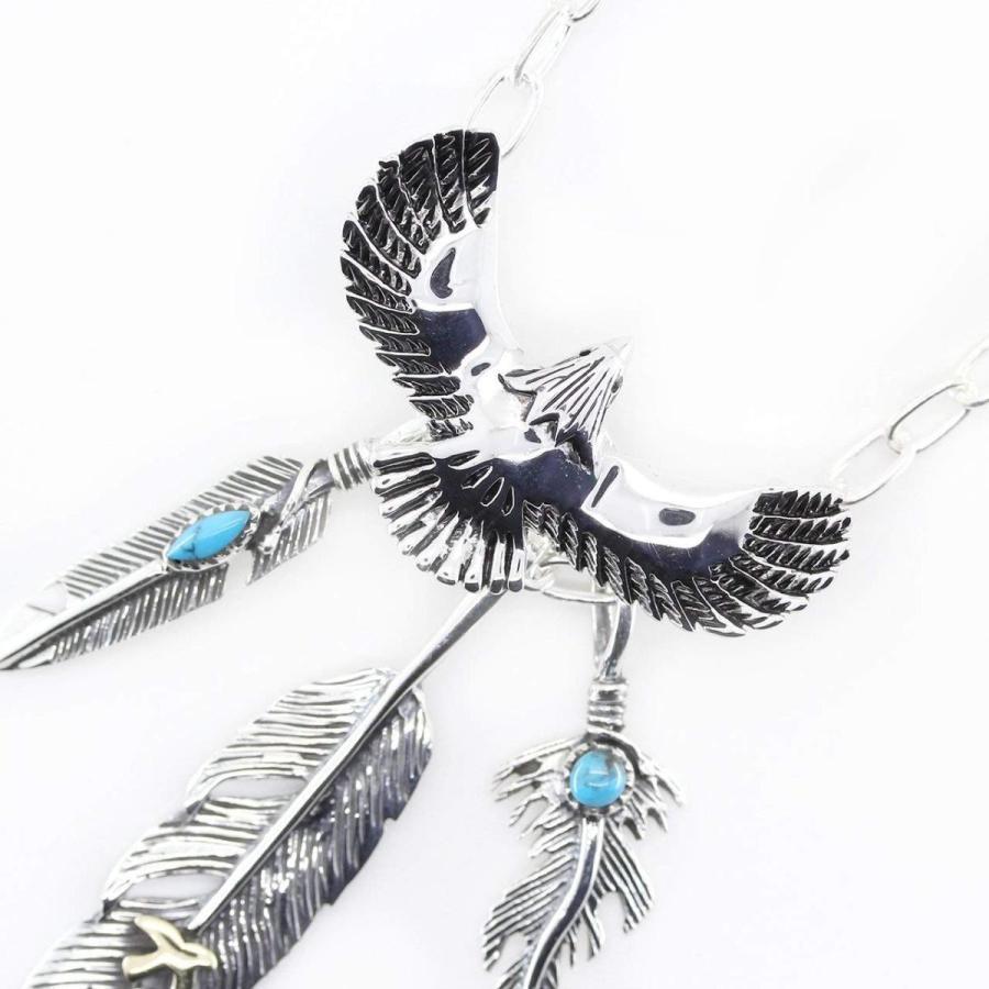 流行に  石輝石輝 シルバー925が美しい幸運を運ぶイーグル鳥とターコイズフェザーのネイティブペンダントネックレス ギフトボックス付き117svn, 五霞町:90e5f6bc --- airmodconsu.dominiotemporario.com