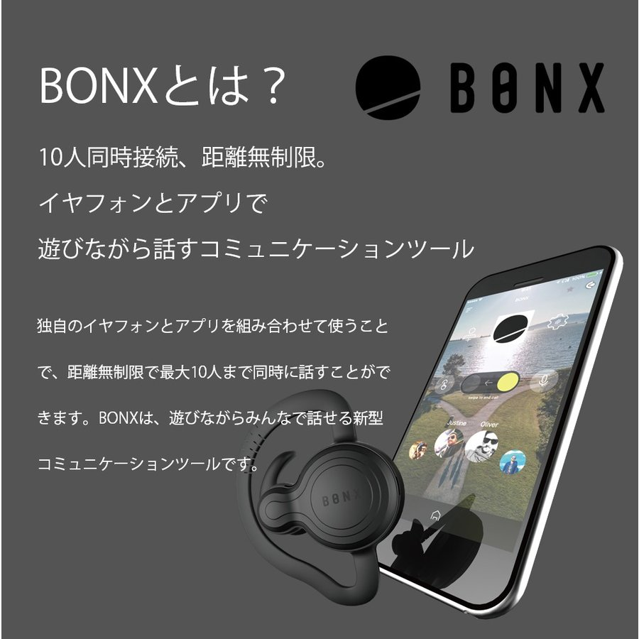 【送料無料】10人同時接続 距離無制限 遊びながら話せる エクストリームコミュニケーションギア BONX Grip アウトドア ヘッドセット m-and-agency 03