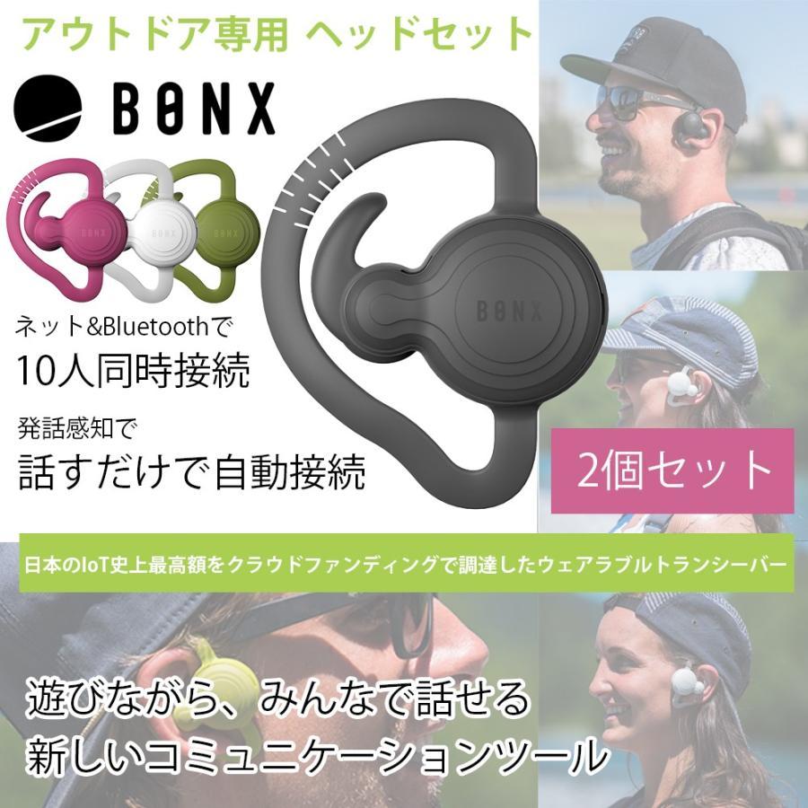 【送料無料】【2個パック】10人同時接続 距離無制限 遊びながら話せる エクストリームコミュニケーションギア BONX Grip アウトドア ヘッドセット m-and-agency