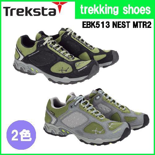 トレッキングシューズ メンズ レディース ハイキング用シューズ ライトトレッキングシューズ 山登り用靴 トレクスタ NEST MTR2 トレイルラン EBK513