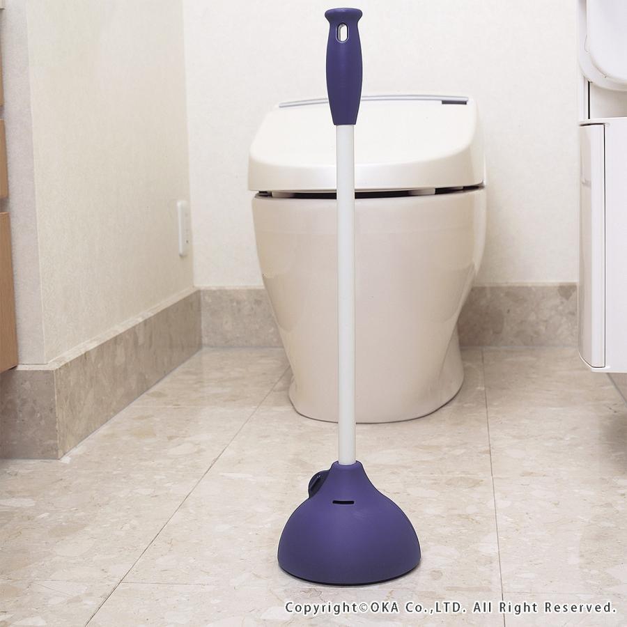 トイレつまりとり 保管ケース付き   トイレ つまり 解消 洋式 和式 すっぽん スッポン 詰り取り ラバーカップ   オカ m-rug 10