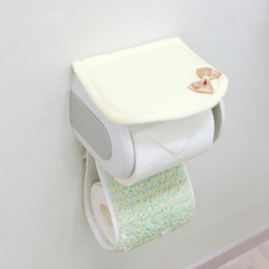 トイレットペーパーホルダーカバー PLYS プリス シェリールスフレ フリル おしゃれ かわいい トイレ用品 ふわふわ  オカ m-rug 02