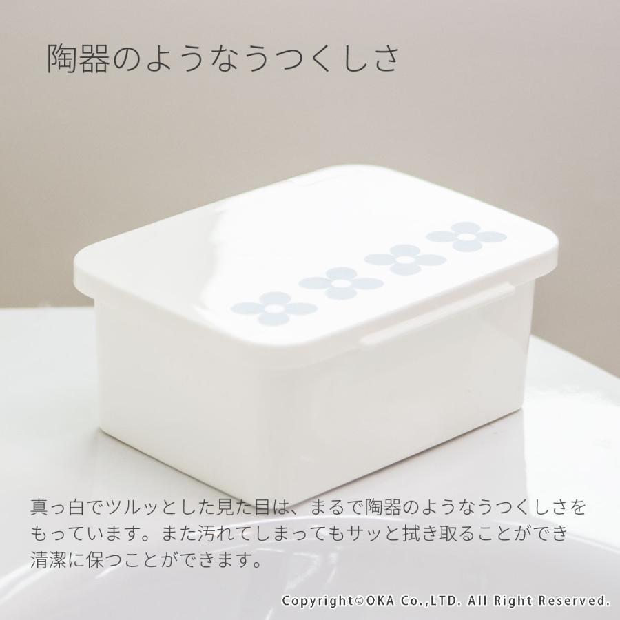 お掃除クロスケース  (北欧風 トイレ シート つめかえ 割れにくい 掃除道具入れ)  フルール オカ|m-rug|03