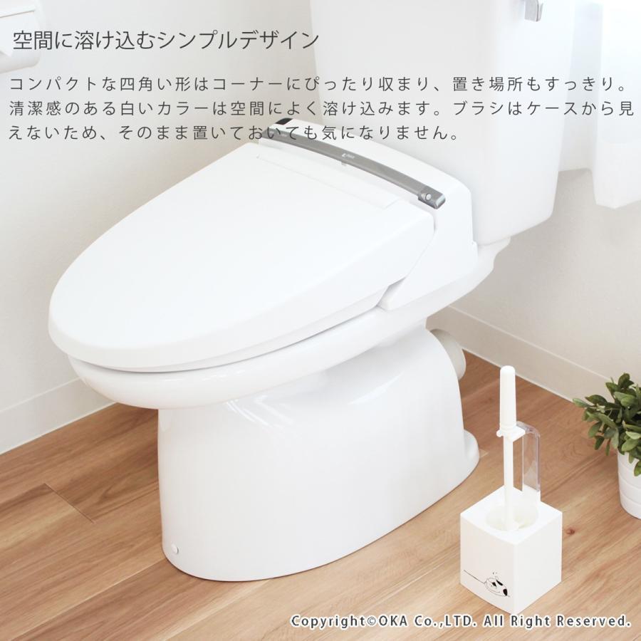 トイレブラシ ケース付き なごみねこ おしゃれ トイレ セット 掃除用品 割れにくい   オカ m-rug 05