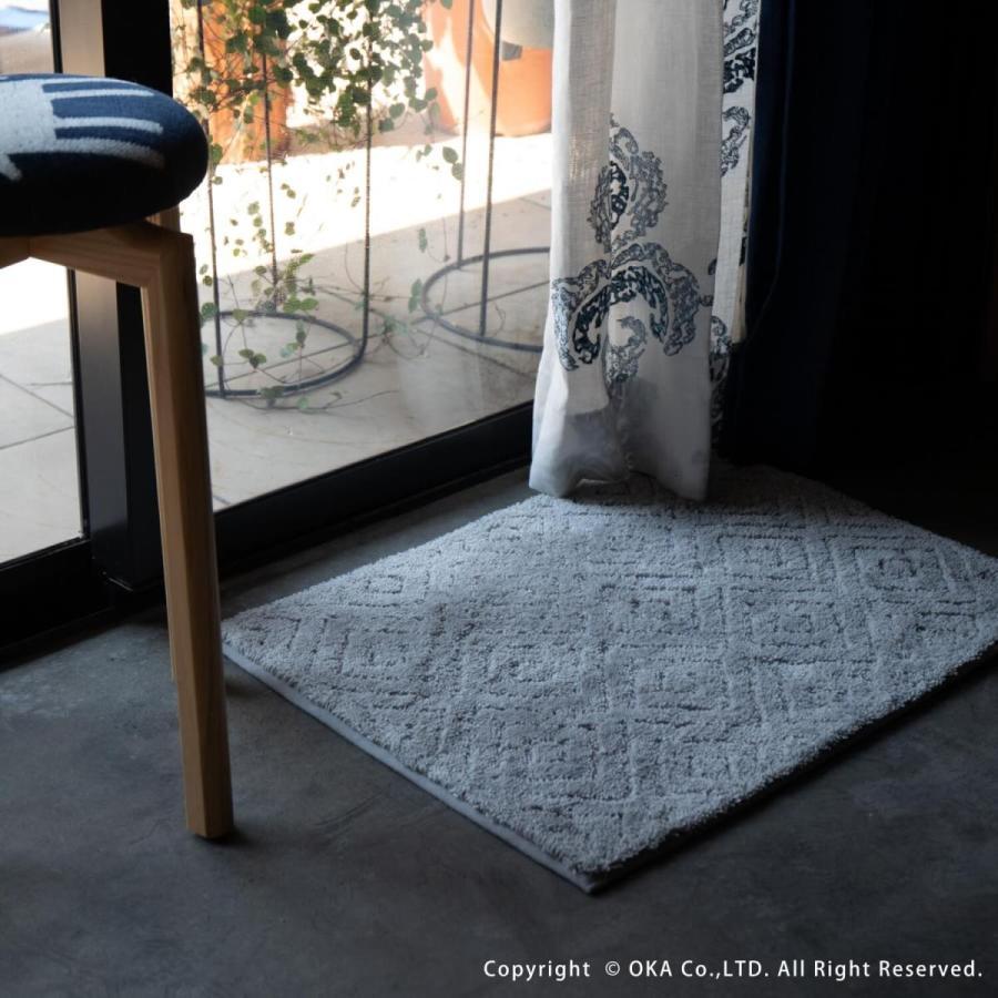バスマット 吸水 速乾 乾度良好  (かんどりょうこう)  バスマット ピュール 約45×60cm  (おしゃれ お風呂マット 足ふきマット 洗濯可 北欧 グレー)  オカ|m-rug|15