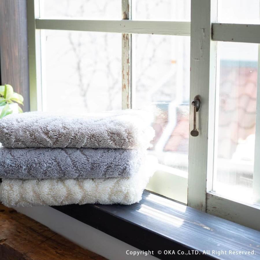 バスマット 吸水 速乾 乾度良好  (かんどりょうこう)  バスマット ピュール 約45×60cm  (おしゃれ お風呂マット 足ふきマット 洗濯可 北欧 グレー)  オカ|m-rug|16