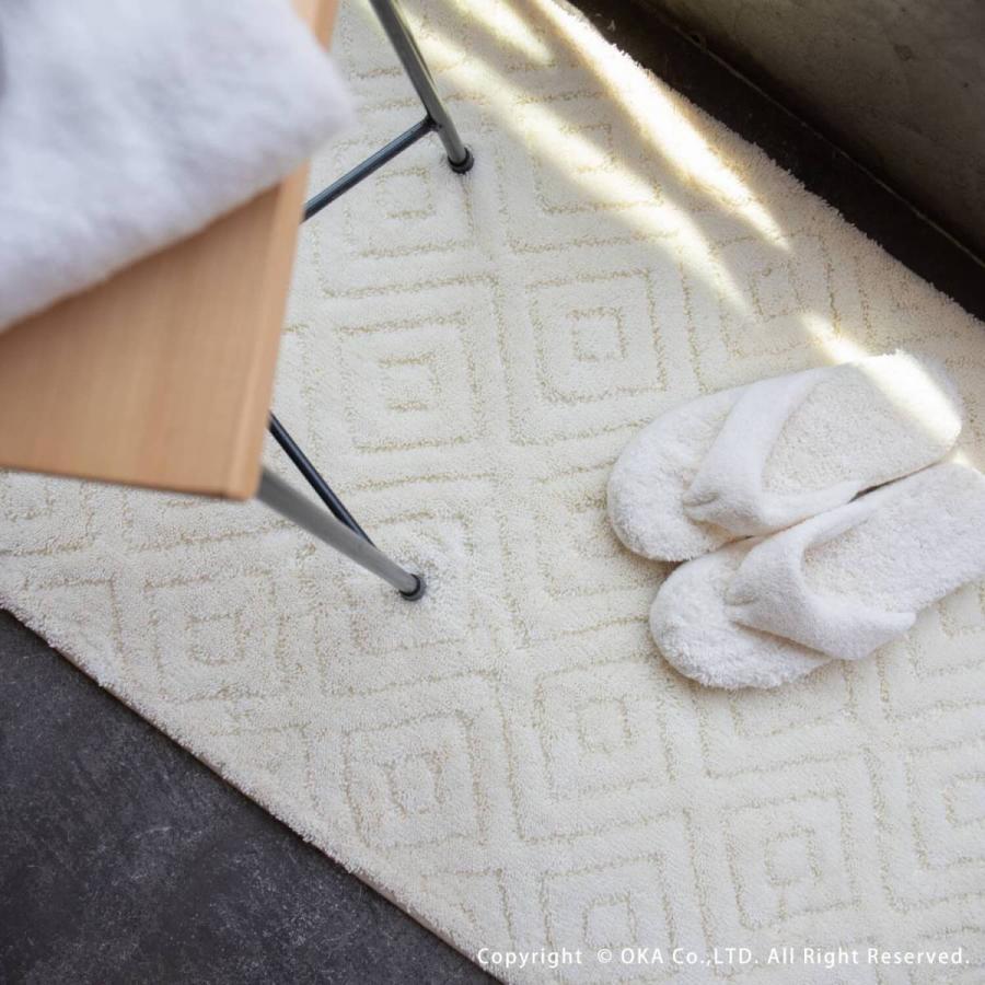 バスマット 大判 吸水 速乾 乾度良好 バスマット ピュール 約60×90cm おしゃれ お風呂マット 足ふきマット 洗濯可 洗える 北欧 グレー アイボリー オカ|m-rug|17