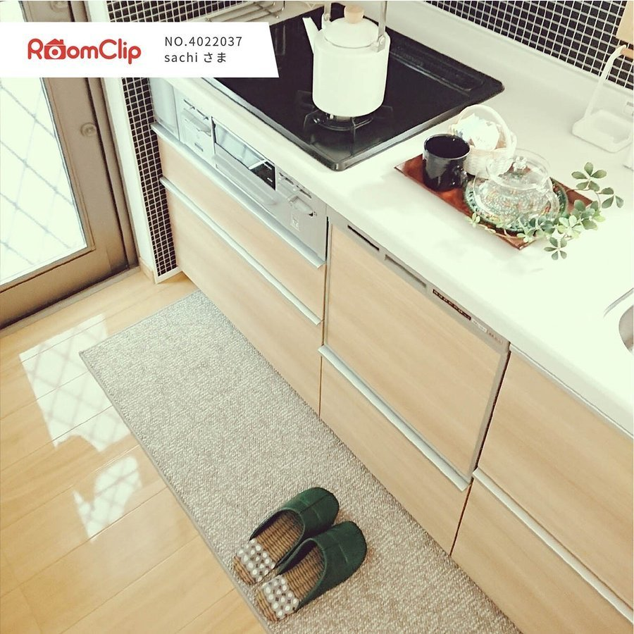 キッチンマット PLYS base (プリスベイス) キッチンマット 約45×240cm  (無地 モダン おしゃれ 洗える 日本製 やわらかい あたたかい 滑り止め 布製 シンプル)|m-rug|12