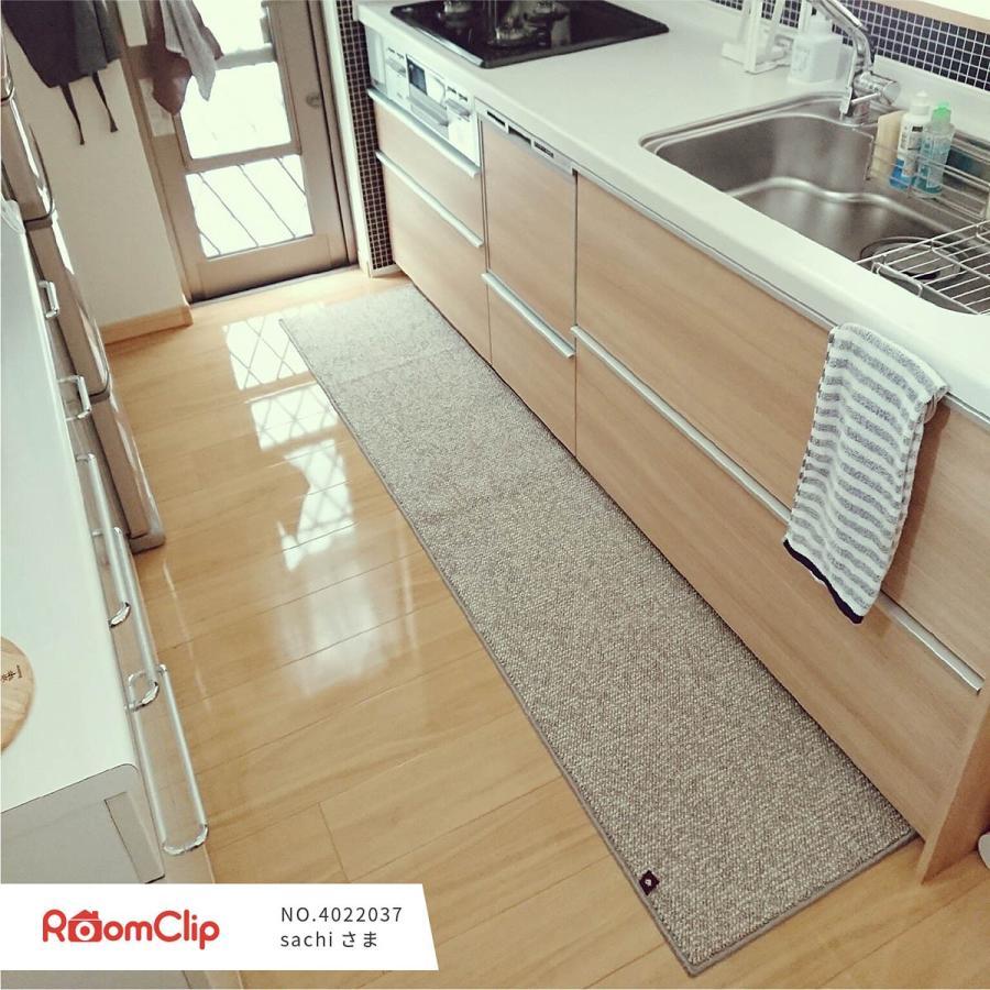 キッチンマット PLYS base (プリスベイス) キッチンマット 約45×240cm  (無地 モダン おしゃれ 洗える 日本製 やわらかい あたたかい 滑り止め 布製 シンプル)|m-rug|15