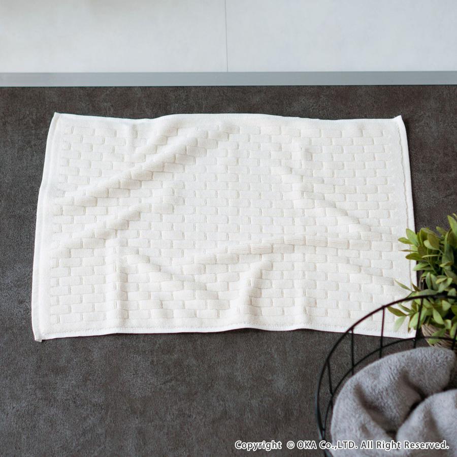 タオル地バスマット Ag+ブリーク バスマット 約40×60cm  (おしゃれ お風呂マット タオル地 銀イオン 抗菌 防臭 足ふきマット 足拭きマット)  オカ|m-rug|09