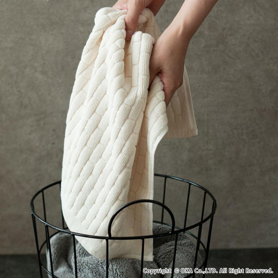 タオル地バスマット Ag+ブリーク バスマット 約40×60cm  (おしゃれ お風呂マット タオル地 銀イオン 抗菌 防臭 足ふきマット 足拭きマット)  オカ|m-rug|10