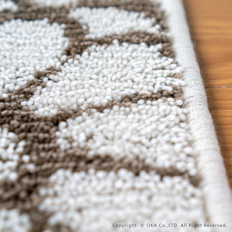 玄関マット 室内 ブルーム 約50×70cm   (コーナー吸着つき 吸着シート 洗える おしゃれ ずれない 花柄)  オカ|m-rug|10