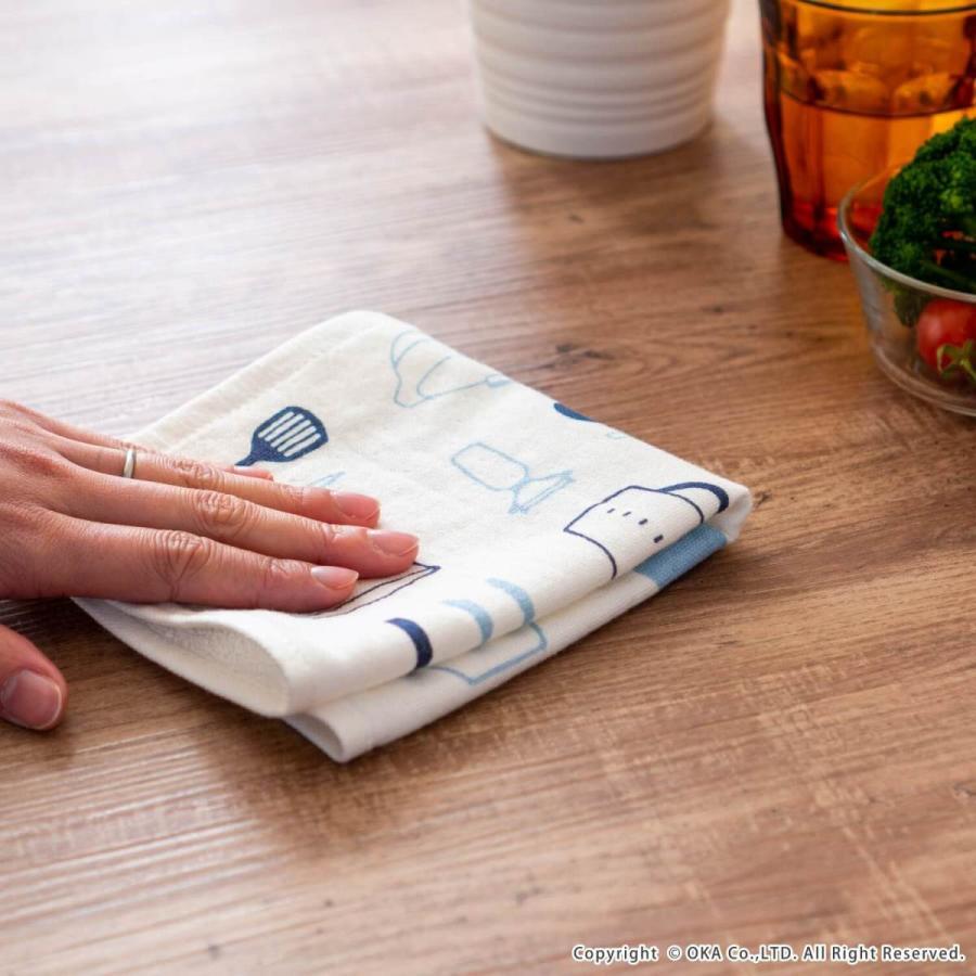 ふきん Ag+ エージープラス  イヤなニオイのしない かわいいふきん 1枚入 ガーゼ タオル 防臭 抗菌 銀イオン におわない ねこ おしぼり 布巾  オカ|m-rug|15