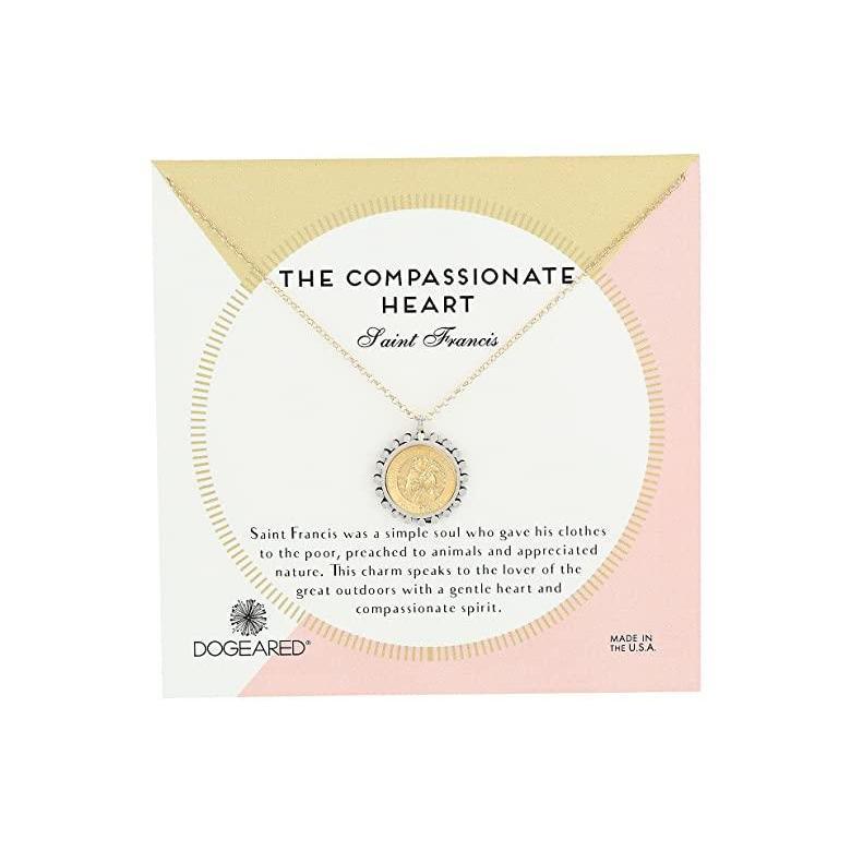【新作からSALEアイテム等お得な商品満載】 ドギャード Dogeared The Compassionate Heart Two-Tone St. Francis Necklace レディース ネックレス Gold Dipped, タックオンライン cd7bf8ed