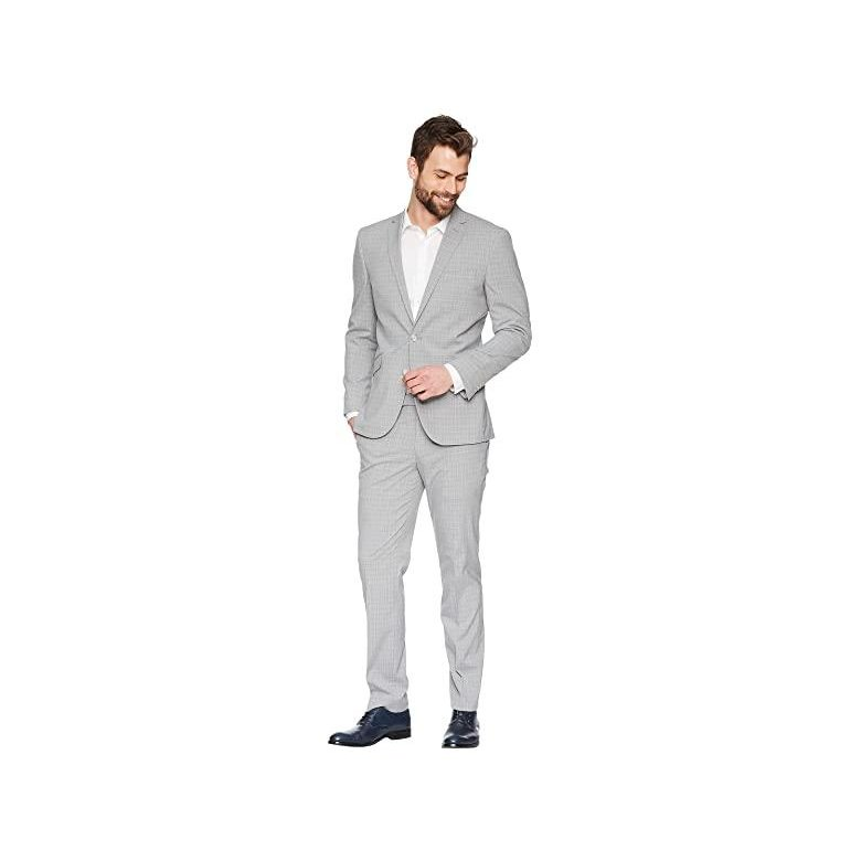 Kenneth Cole REACTION Mens Slim Fit Performance Suit with Stretch