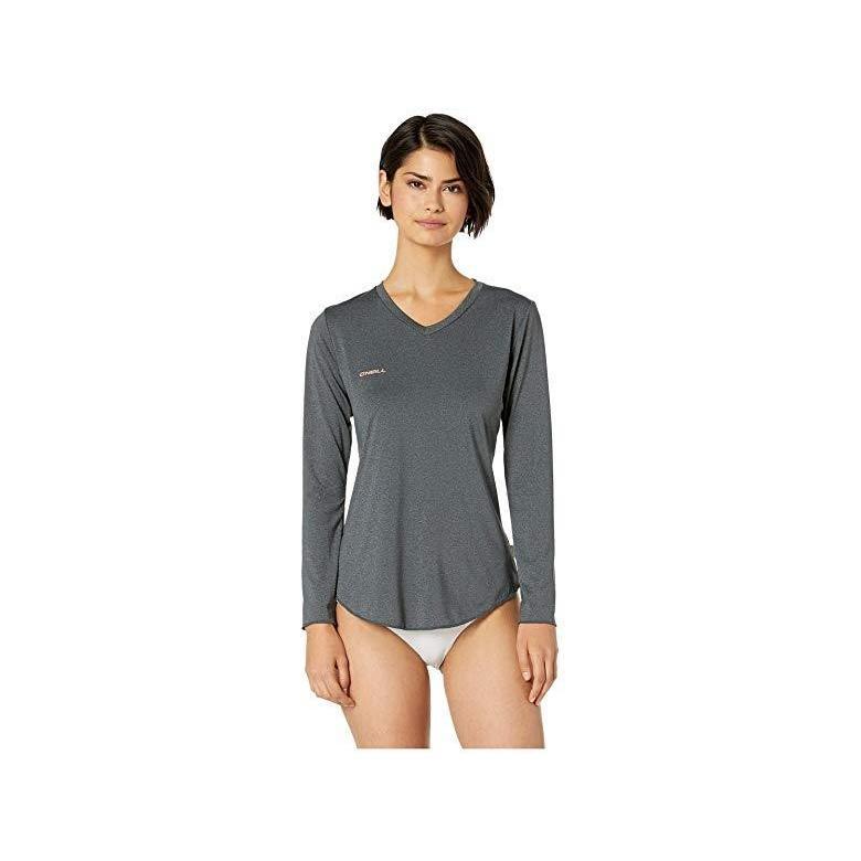 オニール O'Neill Hybrid Long Sleeve V-Neck Sun Shirt レディース 水着 黒