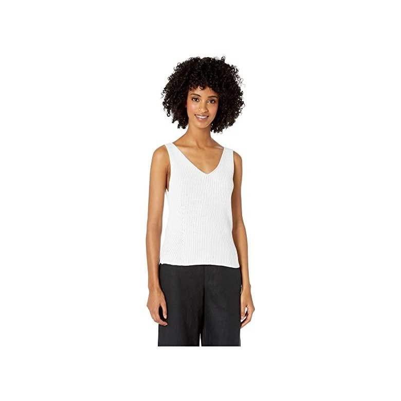 【レビューで送料無料】 ヴィンス Vince Directional Rib Tank Top レディース Shirts & Tops Optic White, 岸和田観光農園 1390786b