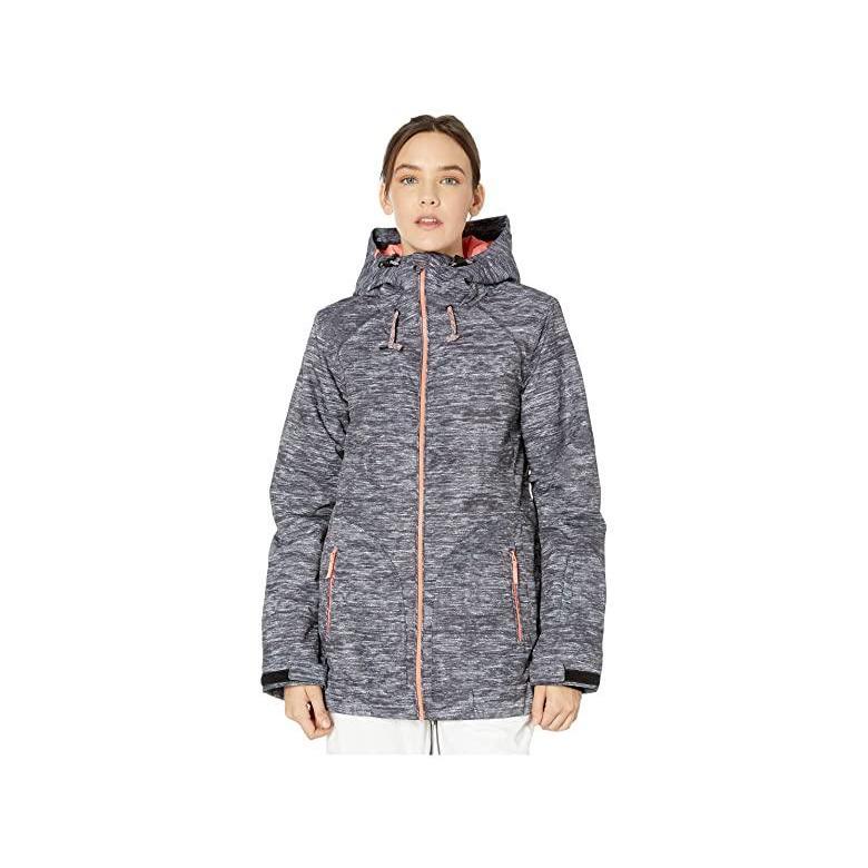 ★お求めやすく価格改定★ ロキシー Roxy Valley Hoodie Snow Jacket レディース Coats & Outerwear True Black Surface Print, ASIANTIQUE アジアンティーク 42e3a3ab