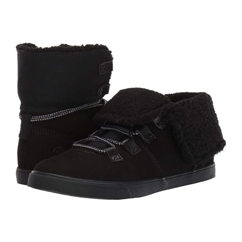 『2年保証』 ティンバーランド Timberland Dausette Nubuck Fleece Dausette Fold Down レディース ブーツ Fold Black Nubuck, ブーム:5fee83c7 --- fresh-beauty.com.au