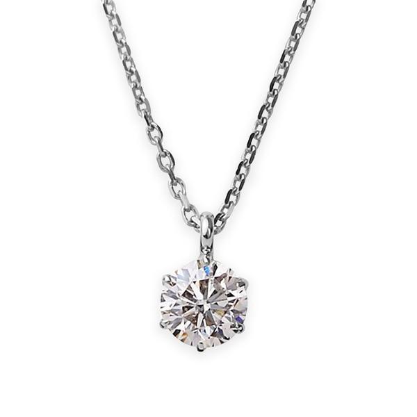 流行に  ダイヤモンドペンダント/ネックレス 一粒 プラチナ Pt900 0.1ct ダイヤネックレス 6本爪 Kカラー I1クラス Poor 中央宝石研究所ソーティング済み, MemoGraph a75b5f02