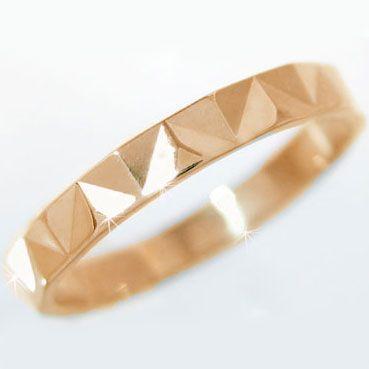 最高 ピンクゴールド 結婚指輪 マリッジリング ダイヤカット ペアリング K10pg 指輪, ブリッジフォースマイル 08ba1005