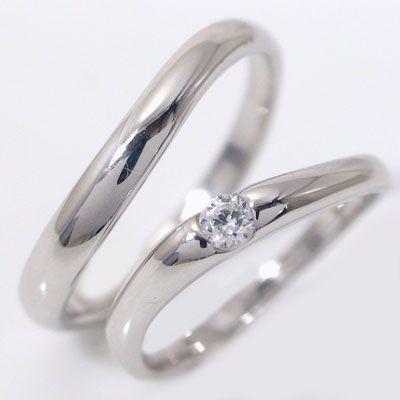 最愛 ダイヤモンド ホワイトゴールド ペアリング 結婚指輪 マリッジリング ペア 2本セット K18wg 指輪 ダイヤ 0.1ct, カツラギシ 6ab88ffe