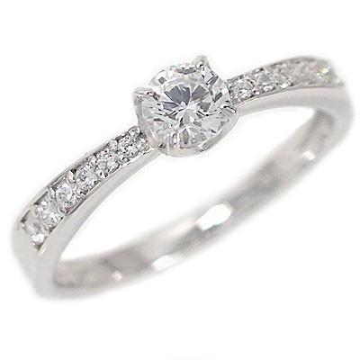 最高の品質 鑑定書付 プラチナ ダイヤモンド 婚約指輪 エンゲージリング ダイヤ 0.3ct E-VVS1-3EX H&C 脇ダイヤ 0.1ct PT900, ロマンチックノイローゼ d94340b0