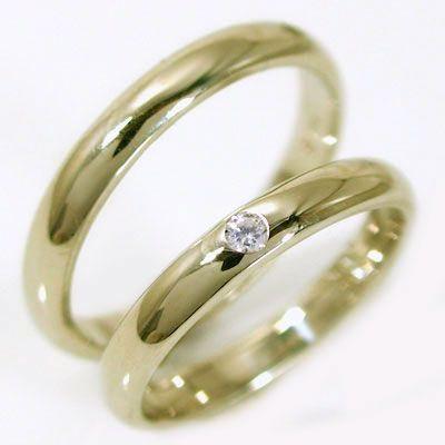 品質検査済 ダイヤモンド ゴールド ペアリング 結婚指輪 マリッジリング ペア 2本セット K18 指輪 ダイヤ 0.02ct 甲丸ストレートライン, スニークオンラインショップ ad9c3c7a