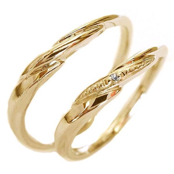 予約販売 ダイヤモンド ピンクゴールドk10 結婚指輪 ペアリング マリッジリング 2本セット K10pg, 独特な b9b2d455