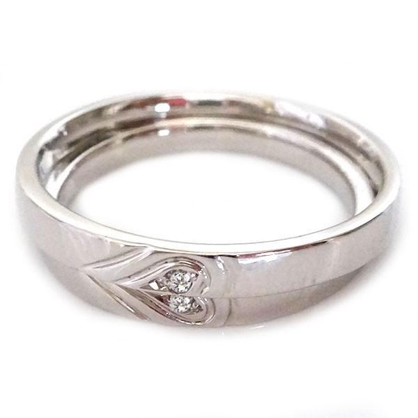 5fb6037667 プラチナ ペアリング ダイヤモンド ペア2本セット 重ねるとハート 結婚指輪 マリッジリング Pt900 ...