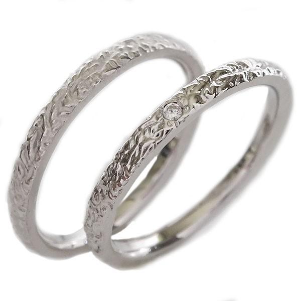 トップ ホワイトゴールドk18 ペアリング ダイヤモンド 結婚指輪 マリッジリング 2本セット K18wg, スポーツLAB 9d61355a