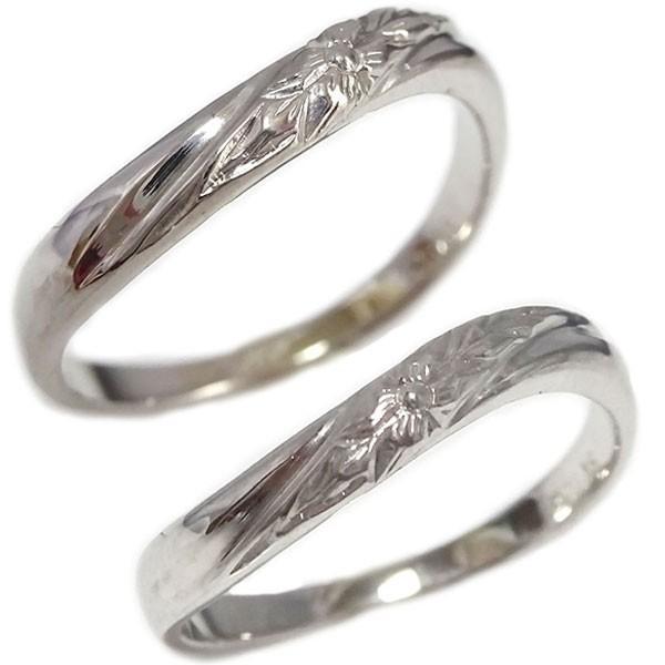 【35%OFF】 ハワイアン ジュエリー ペアリング 2本セット ホワイトゴールドk18 結婚指輪 マリッジリング K18wg プルメリア, 奈川村 64c37d10