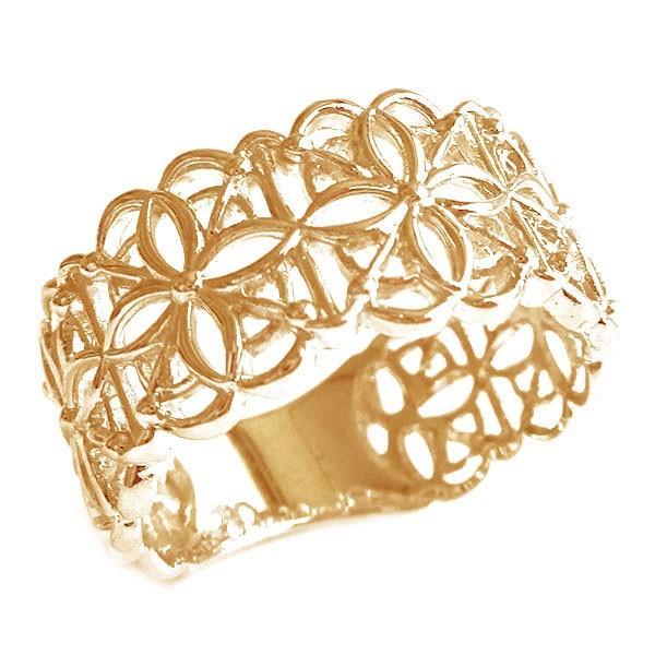 再再販! ピンクゴールド K18 リング 幅広 透かし 指輪 K18pg, トランシーバー館インカム専門店 34ac9808