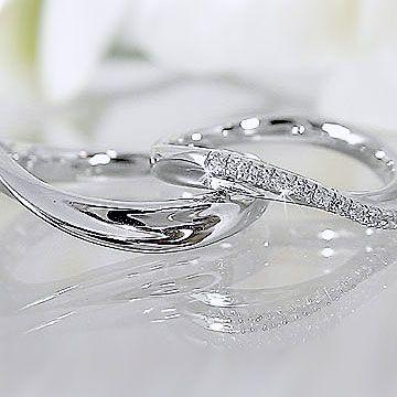 新しい季節 ダイヤモンド ホワイトゴールド ペアリング 結婚指輪 マリッジリング K18wg 指輪 ダイヤ 0.08ct, OPartsBox c46e8c33
