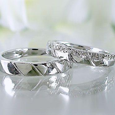 【国際ブランド】 プラチナ ダイヤモンド ペアリング 結婚指輪 マリッジリング 2本セット Pt900 指輪 ダイヤ 0.1ct, 家具のコンシェルジュ bd8488cd