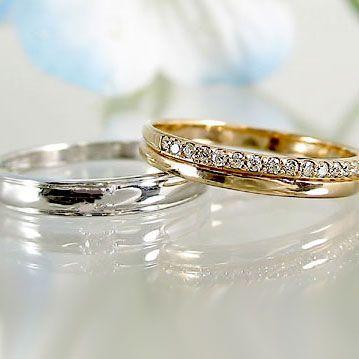 優れた品質 ダイヤモンド ピンクゴールド ホワイトゴールド ペアリング 結婚指輪 マリッジリング エタニティー 2本セット K18 指輪 ダイヤ 0.10ct, ユアーズサービス 4e4de7ac