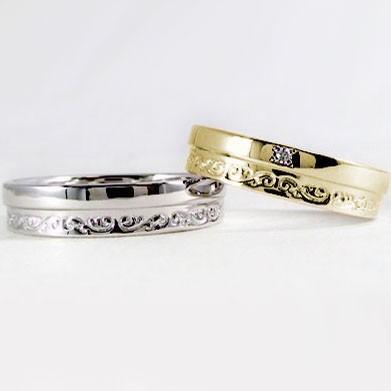 【2019春夏新作】 ダイヤモンド イエローゴールド ホワイトゴールド ペアリング ペアリング 結婚指輪 マリッジリング 指輪 2本セット K18 ダイヤモンド 指輪 ダイヤ 0.01ct, 真珠の卸屋さん:2723596c --- lighthousesounds.com