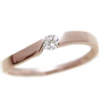 新発売 ピンクゴールド ダイヤモンド リング 一粒 ダイヤ ピンキーリング K10pg 指輪, ロールスクリーン ストア 48bbad71