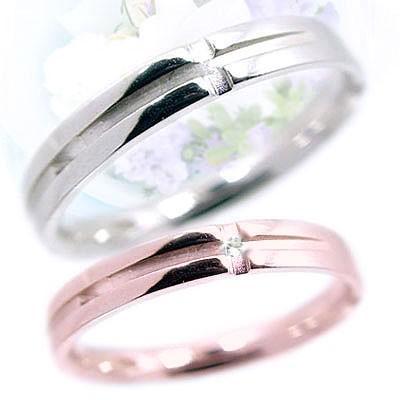 【通販 人気】 ダイヤモンド ピンクゴールド ホワイトゴールド ペアリング 結婚指輪 マリッジリング 2本セット クロス K18pg K18wg 指輪 ダイヤ 0.01ct, 伊豆市 8e77ee5f