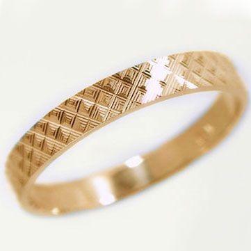格安人気 ピンクゴールド 結婚指輪 マリッジリング ダイヤカット ペアリング K10pg 指輪, ニシヤママチ 4538c257