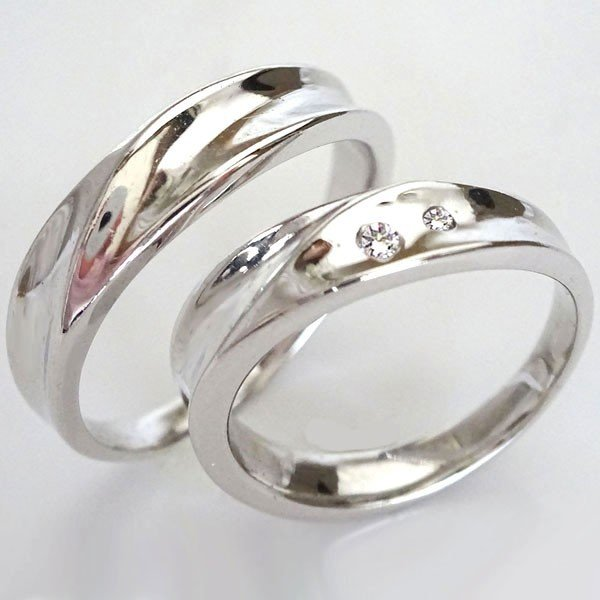 最前線の ダイヤモンド ホワイトゴールドk18 結婚指輪 ペアリング マリッジリング 2本セットK18wgダイヤ 0.03ct, MDS 北欧インテリア専門ショップ 80af737a