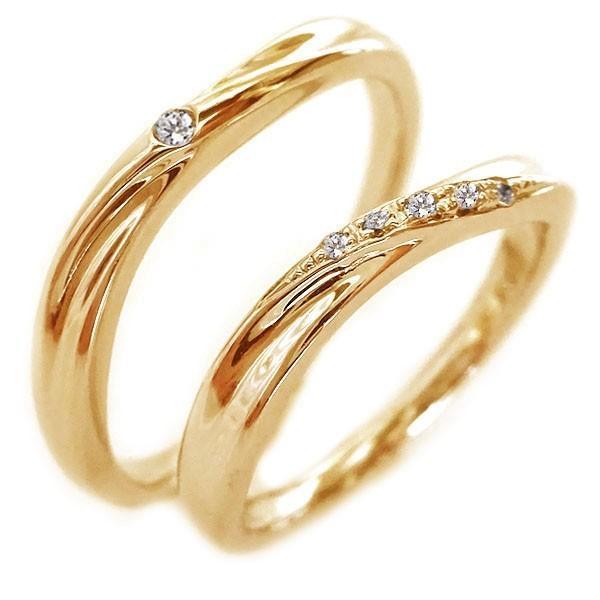 当店在庫してます! ピンクゴールド ダイヤモンド 結婚指輪 マリッジリング ペアリング ペア2本セット K18pg ダイヤ ストレート カップル, クルメシ 4c1d2c11