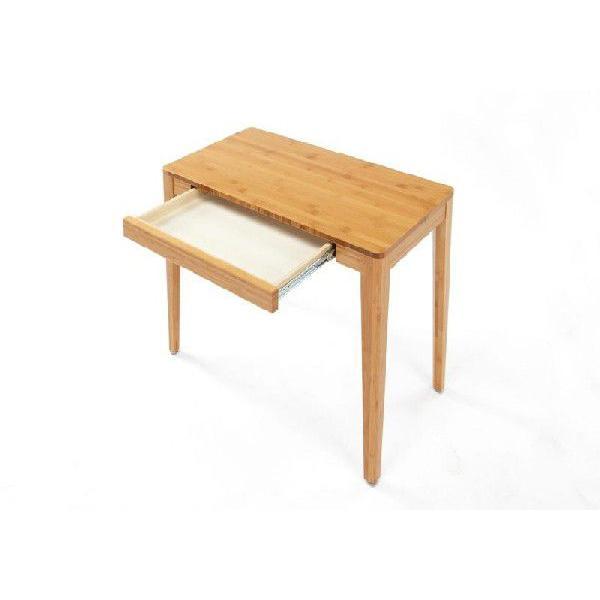 竹集成材のコンパクトな机 Console Desk W750xD400xH700mm TEORI