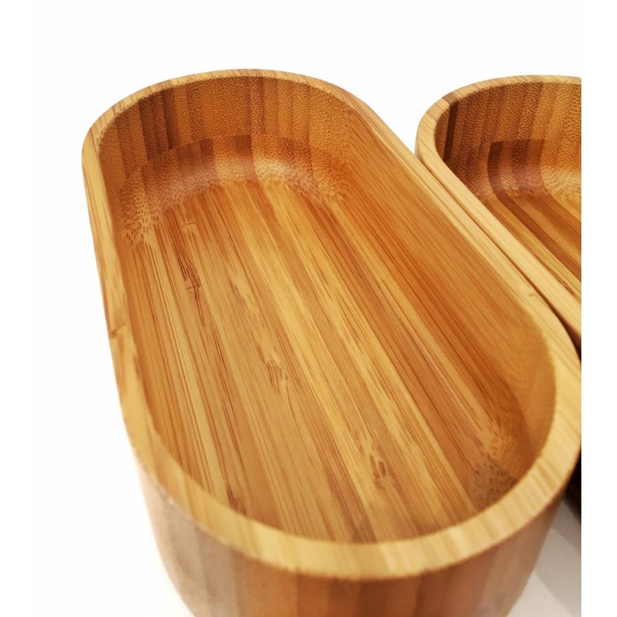 竹製の楕円形二段弁当箱|maaoyama|04