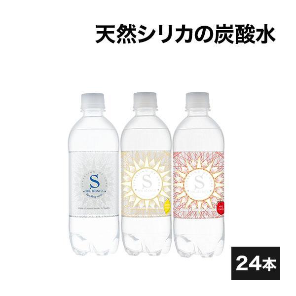 炭酸水 天然シリカ水 SOL 300円OFFクーポン対象 ミネラル炭酸水 大分県日田市産 24本 贈与 45mg 500ml 国内在庫