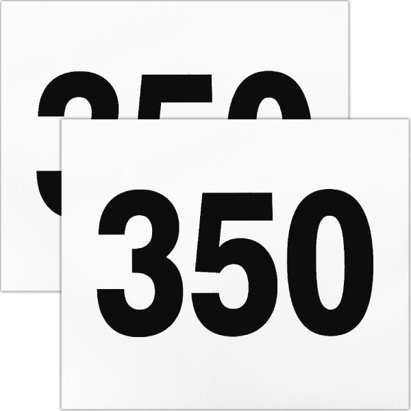 ゼッケン 陸上競技用2枚セット 超人気 W24cm×H20cm ギフト