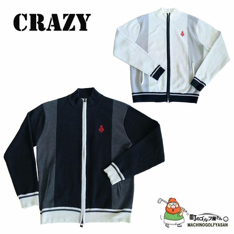 クレイジー ゴルフ ジャガード編み 縦切り替えニット ブルゾン メンズ ウェア CRAZY Men's Wear Knit Blouson 17ss