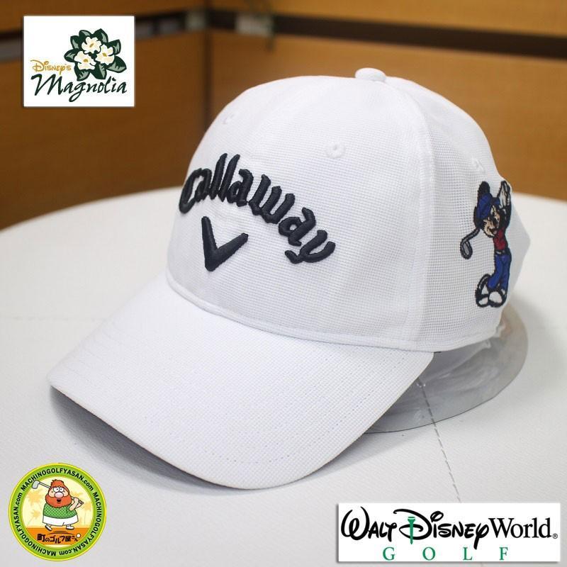 ウォルトディズニーワールド ゴルフコース ディズニー キャロウェイ ゴルフキャップ ミッキーマウス ホワイト LからXLサイズ 白【18ss】