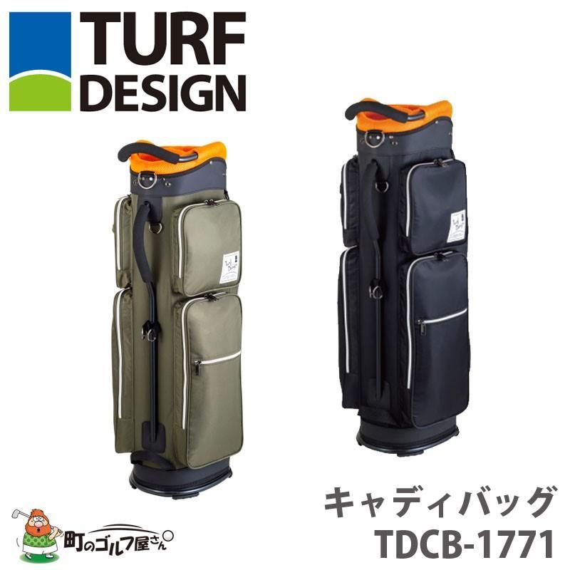 【送料無料】【2018年モデル】 TURF DESIGN ターフデザイン キャディバッグ TDCB-1771 47インチ対応 9.5型 2.5kg カーキ/ブラック 朝日ゴルフ【18ss】